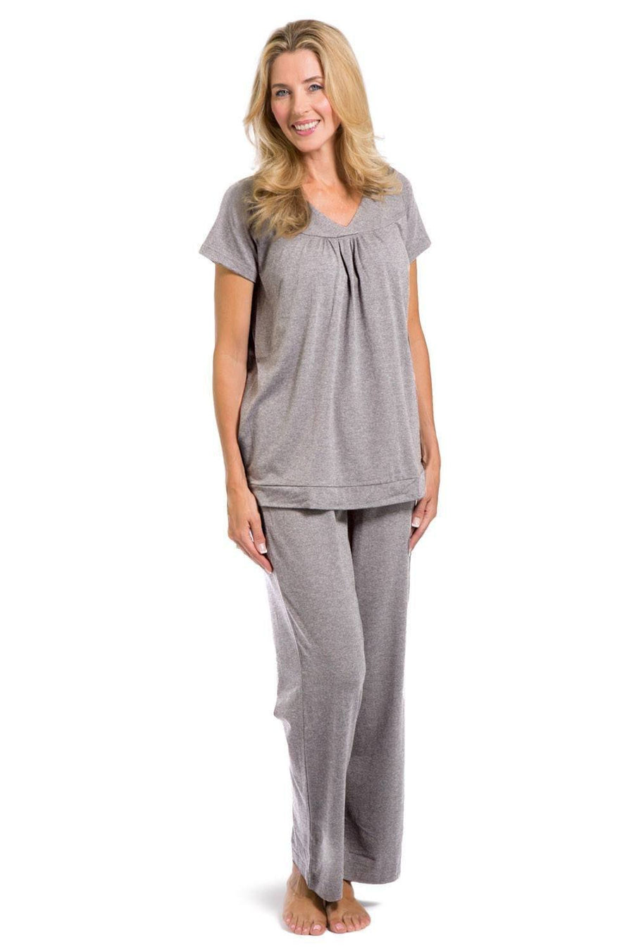 Women s EcoFabric™ Pajama Set with Gift Box- Short Sleeve Top and Full  Length Pant 16cd08a76