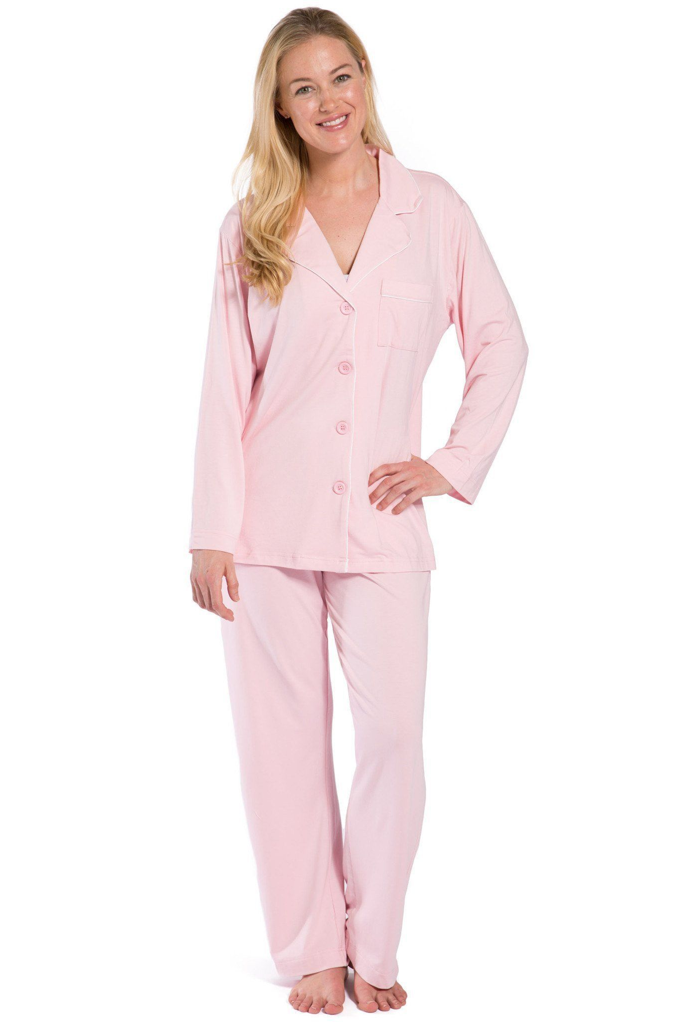 Womens>Sleep And Lounge>Pajamas - Women's Classic Ecofabric™ Full Length Pajama Set