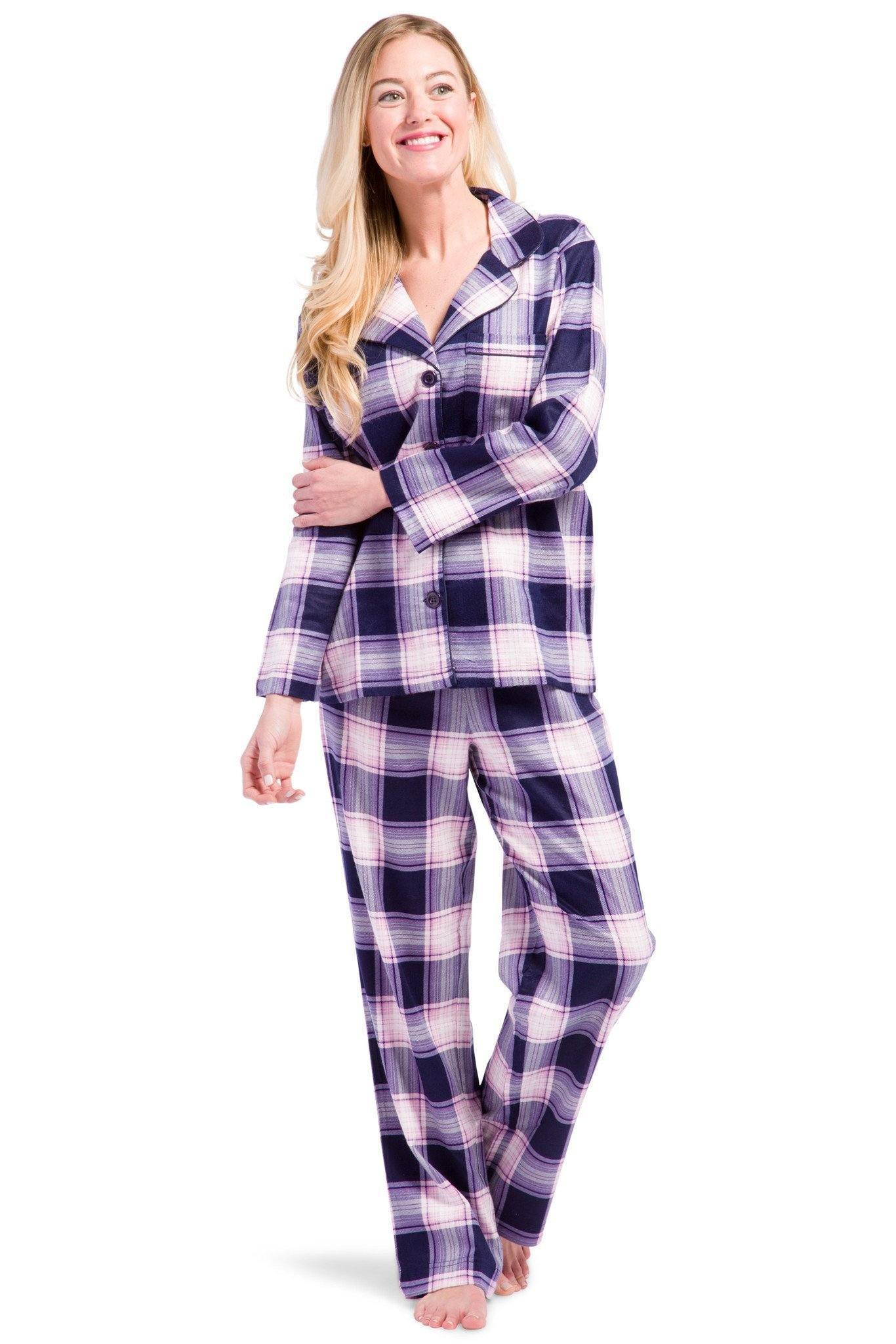 Fishers Finery - Women's EcoFlannel™ Full Length Plaid Pajama Set With Gift Box