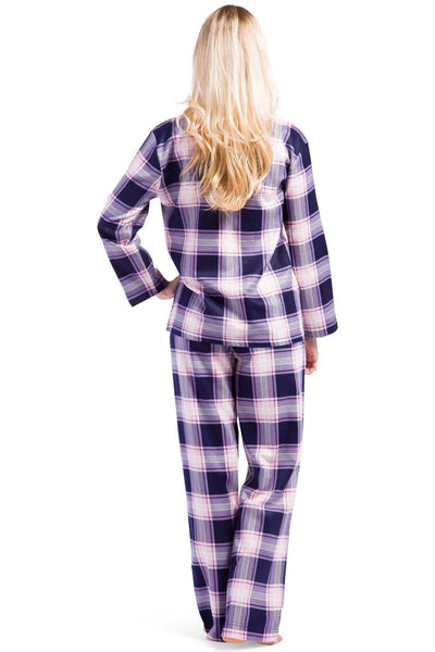 Women's EcoFlannel™ Full Length Plaid Pajama Set with Gift Box - Fishers Finery