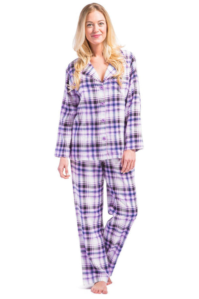 a9f06585dfa Women's EcoFlannel™ Full Length Plaid Pajama Set with Gift Box - Fishers  Finery