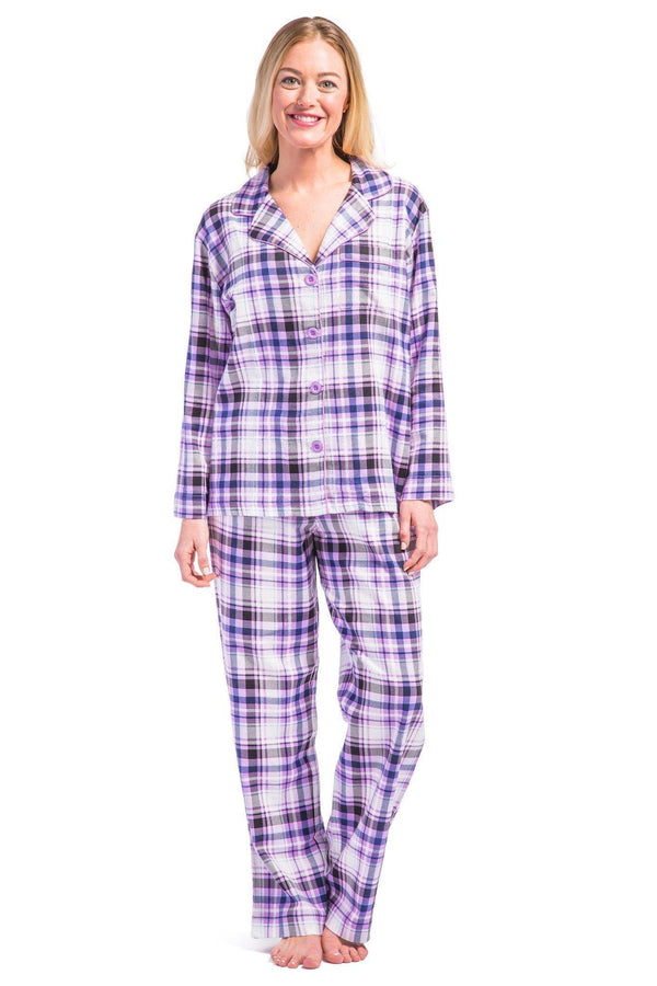 Women S Pajamas Full Length Flannel Pajama Set Fishers