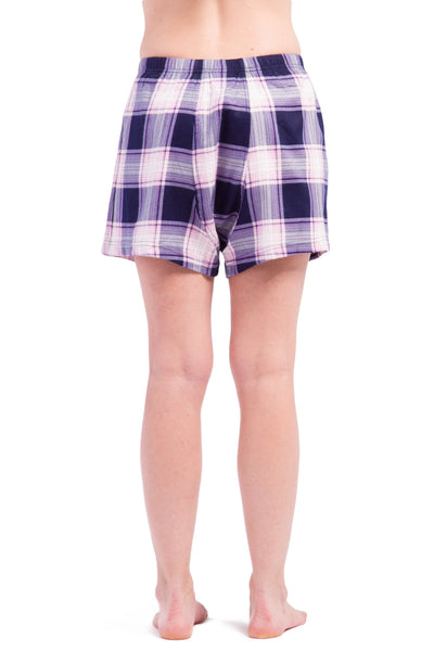 Women's EcoFlannel™ Plaid Sleep /  Lounge Boxer - Fishers Finery