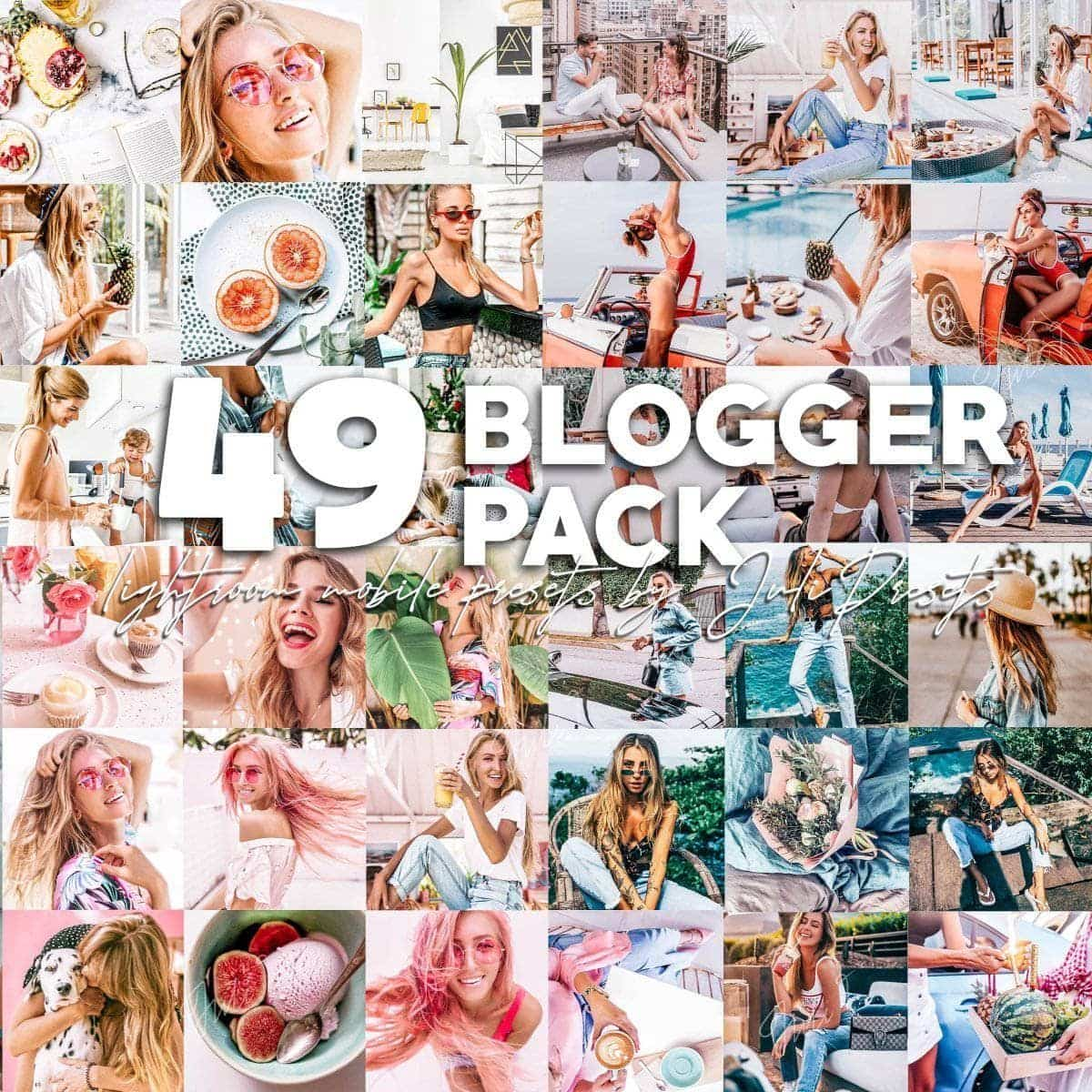 49 BLOGGER PRESETS PACK Mobile & Desktop Lightroom Presets