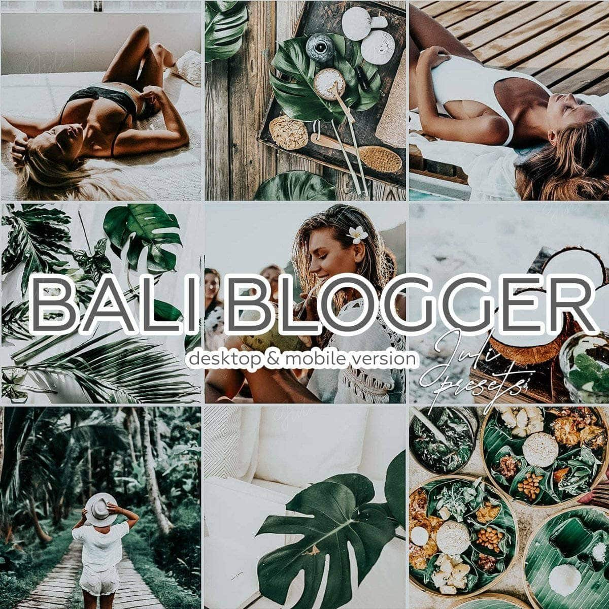 BALI BLOGGER - 5 Desktop Lightroom Presets - presetbank