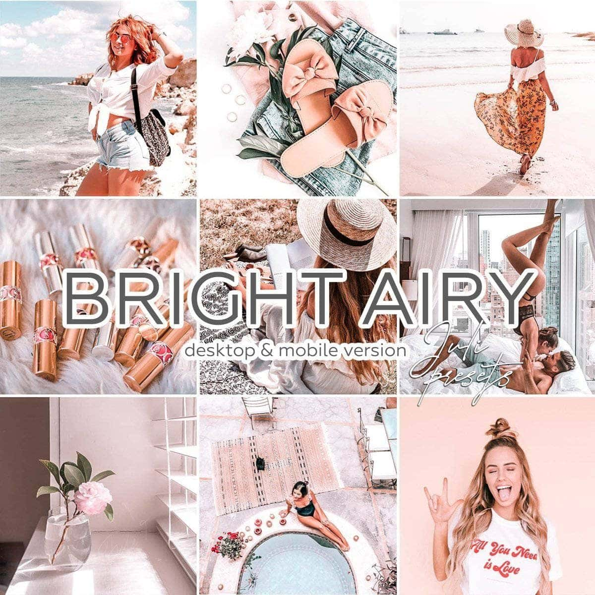 BRIGHT AIRY - 10 Desktop Lightroom Presets - presetbank