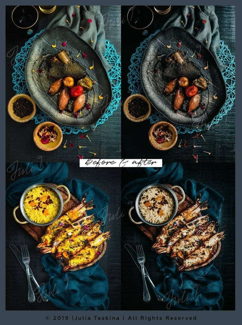 DARK FOOD - 2 Desktop Lightroom Presets - presetbank