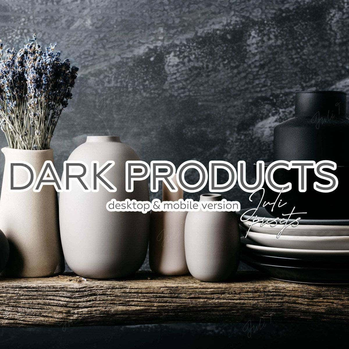DARK PRODUCRS - 4 Desktop Lightroom Presets - presetbank