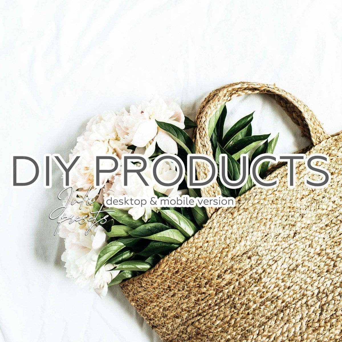 DIY PRODUCTS - 5 Desktop Lightroom Presets - presetbank