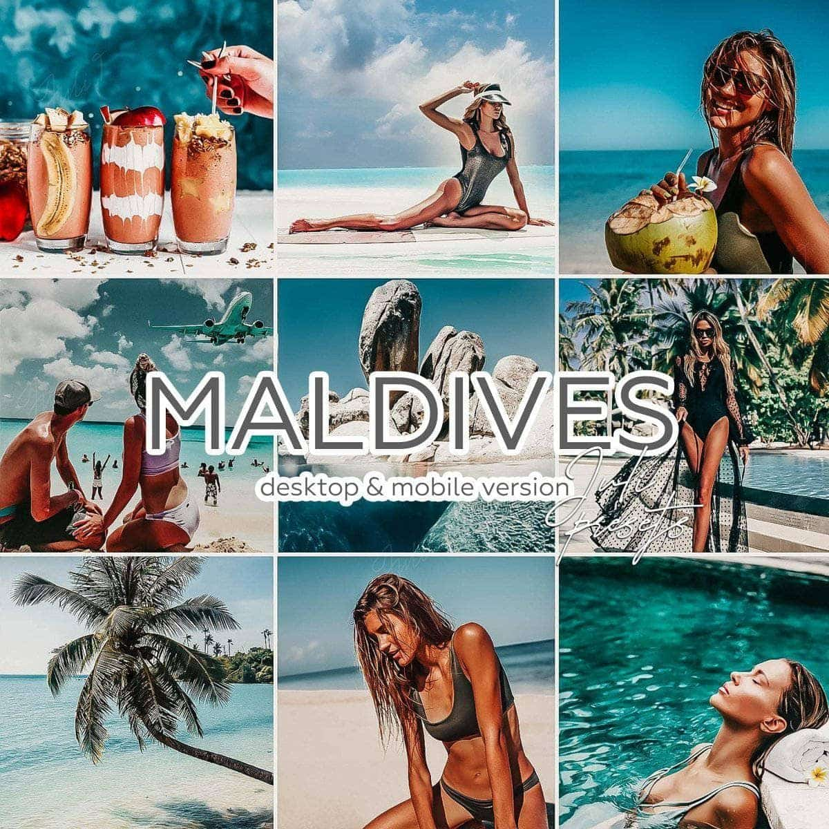 MALDIVES - 10 Desktop Lightroom Presets - presetbank
