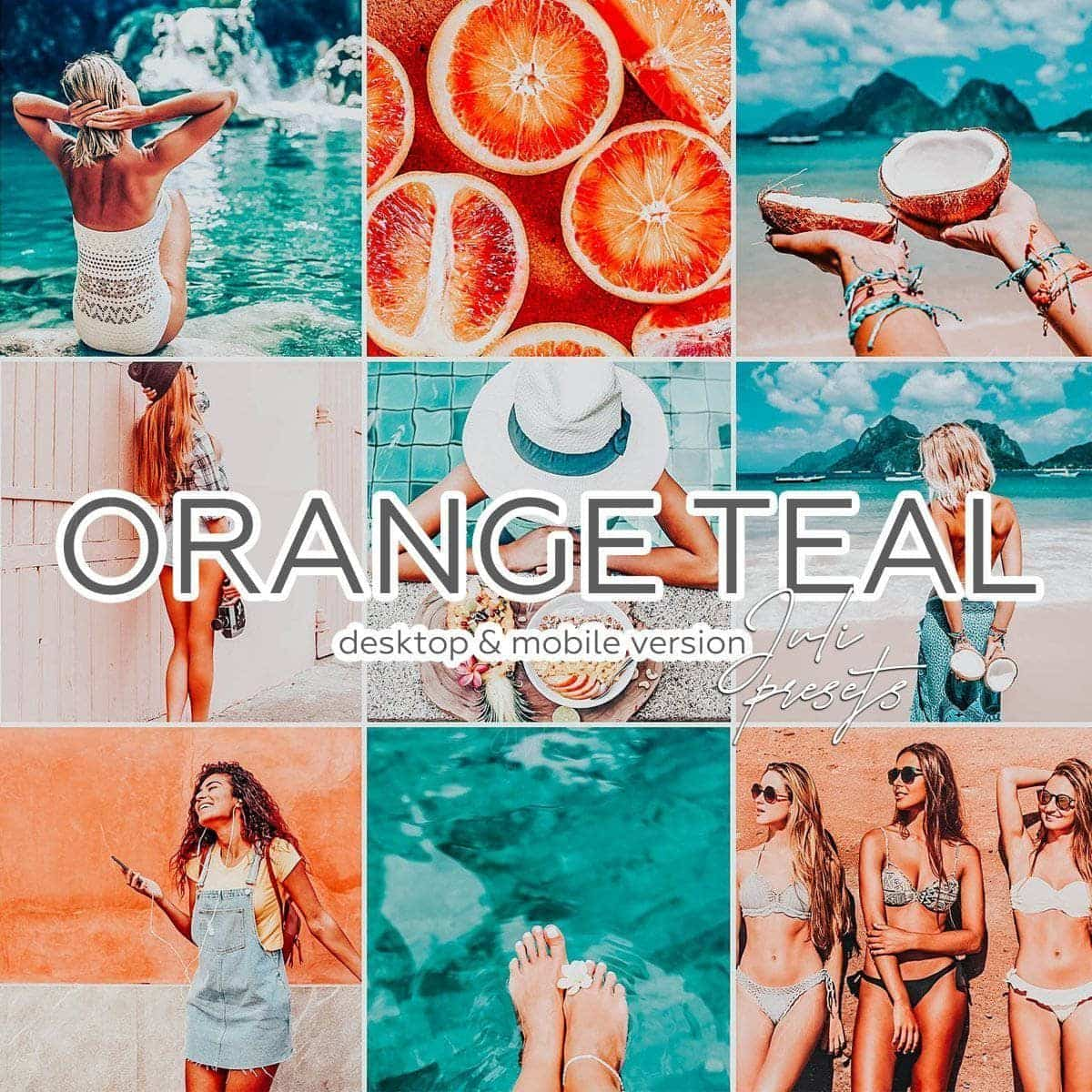 ORANGE TEAL - 10 Desktop Lightroom Presets - presetbank