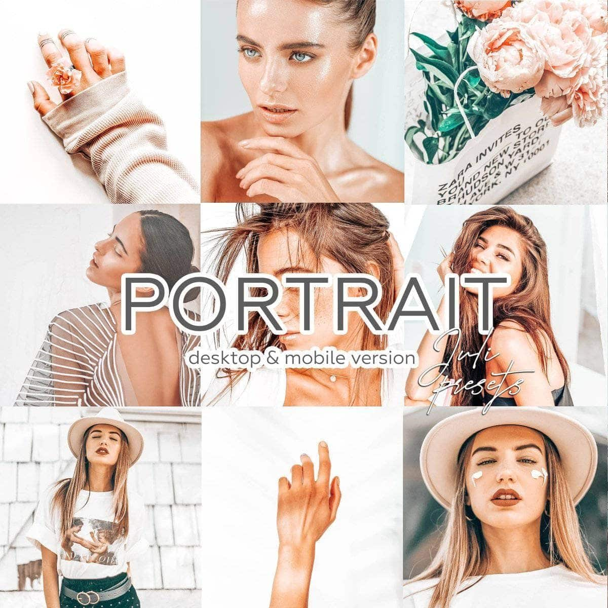 PORTRAIT - 4 Desktop Lightroom Presets - presetbank