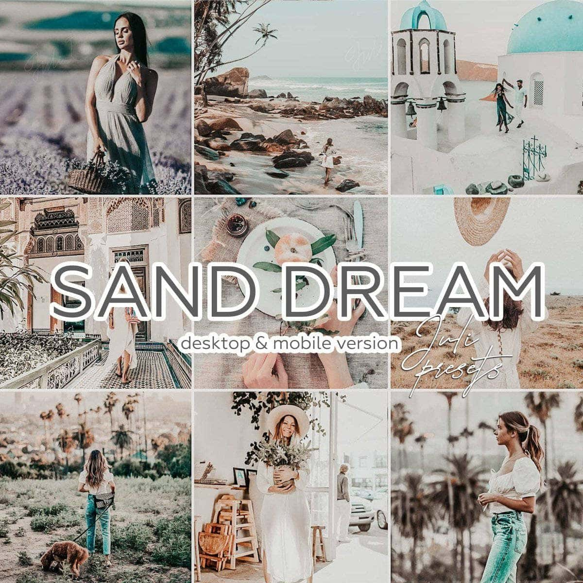 SAND DREAM - 5 Desktop Lightroom Presets - presetbank