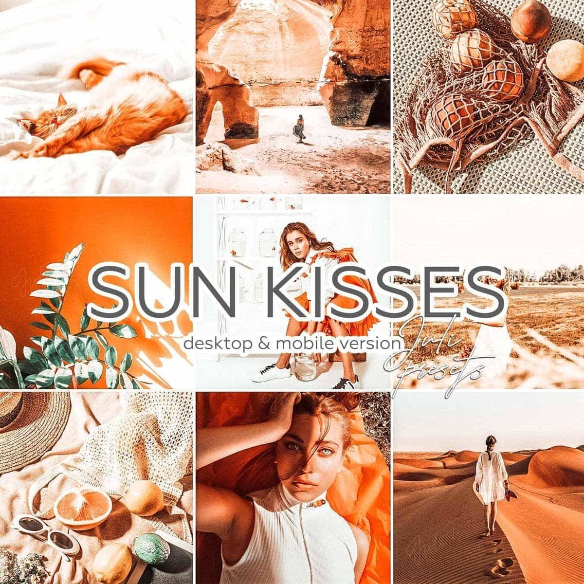 SUN KISSED - 4 Desktop Lightroom Presets - presetbank