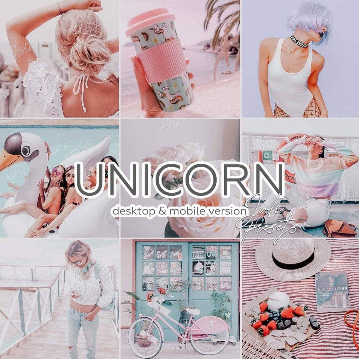 UNICORN - 4 Desktop Lightroom Presets - presetbank