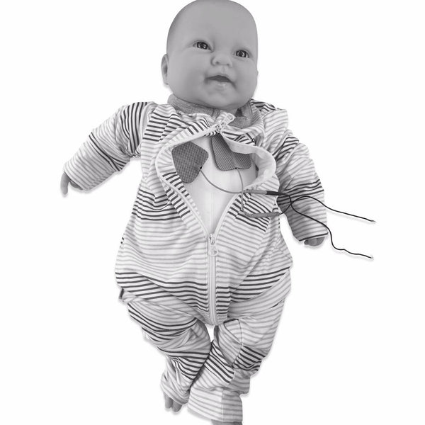 Jumpez G Tube Adjustable Romper - Blue Horizon Stripe