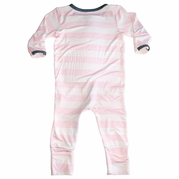 Jumpez G Tube Adjustable Romper - Pink Panther Stripe