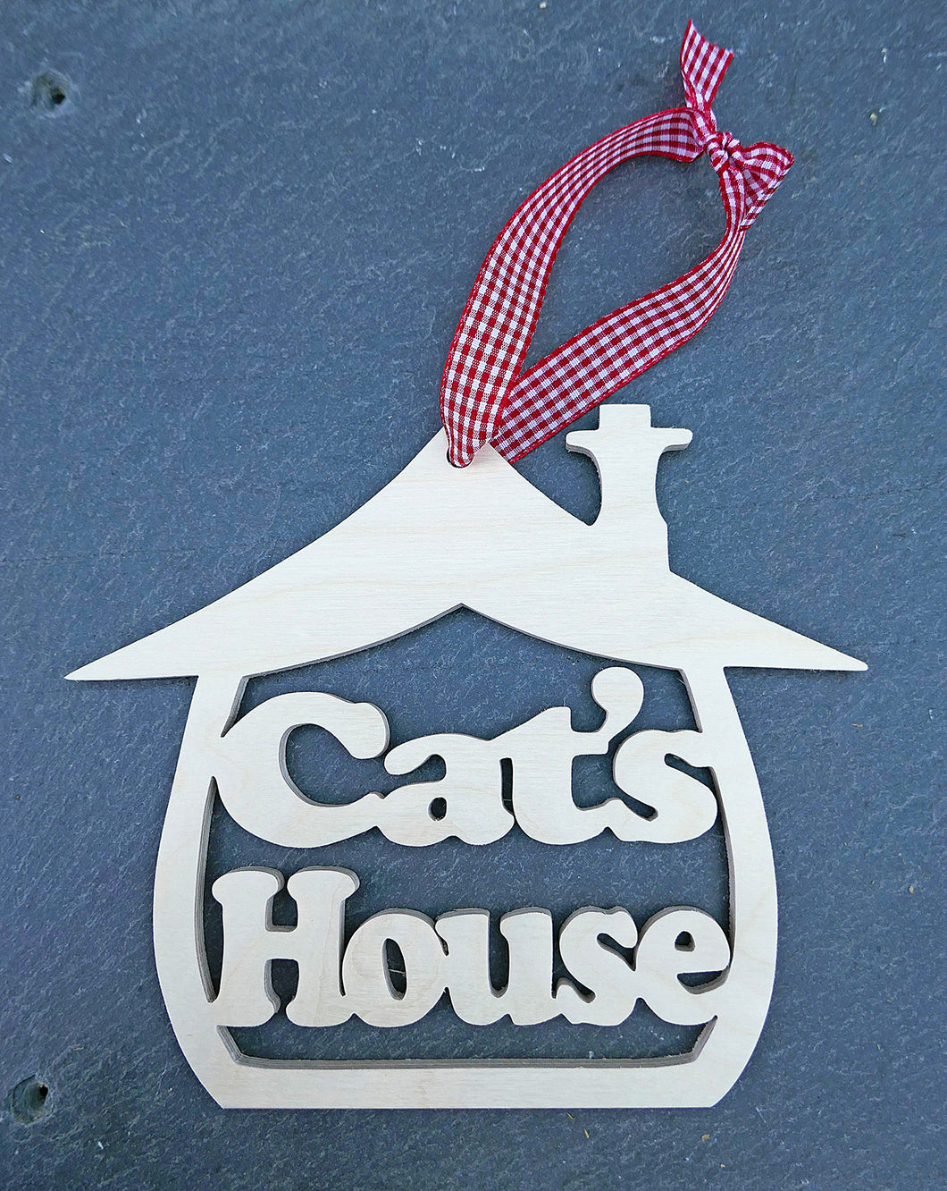 Cat's house plaque
