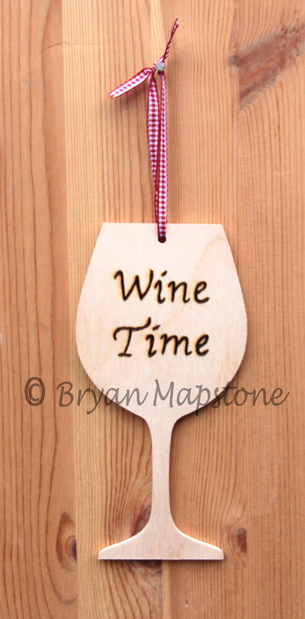 Wine time plaque
