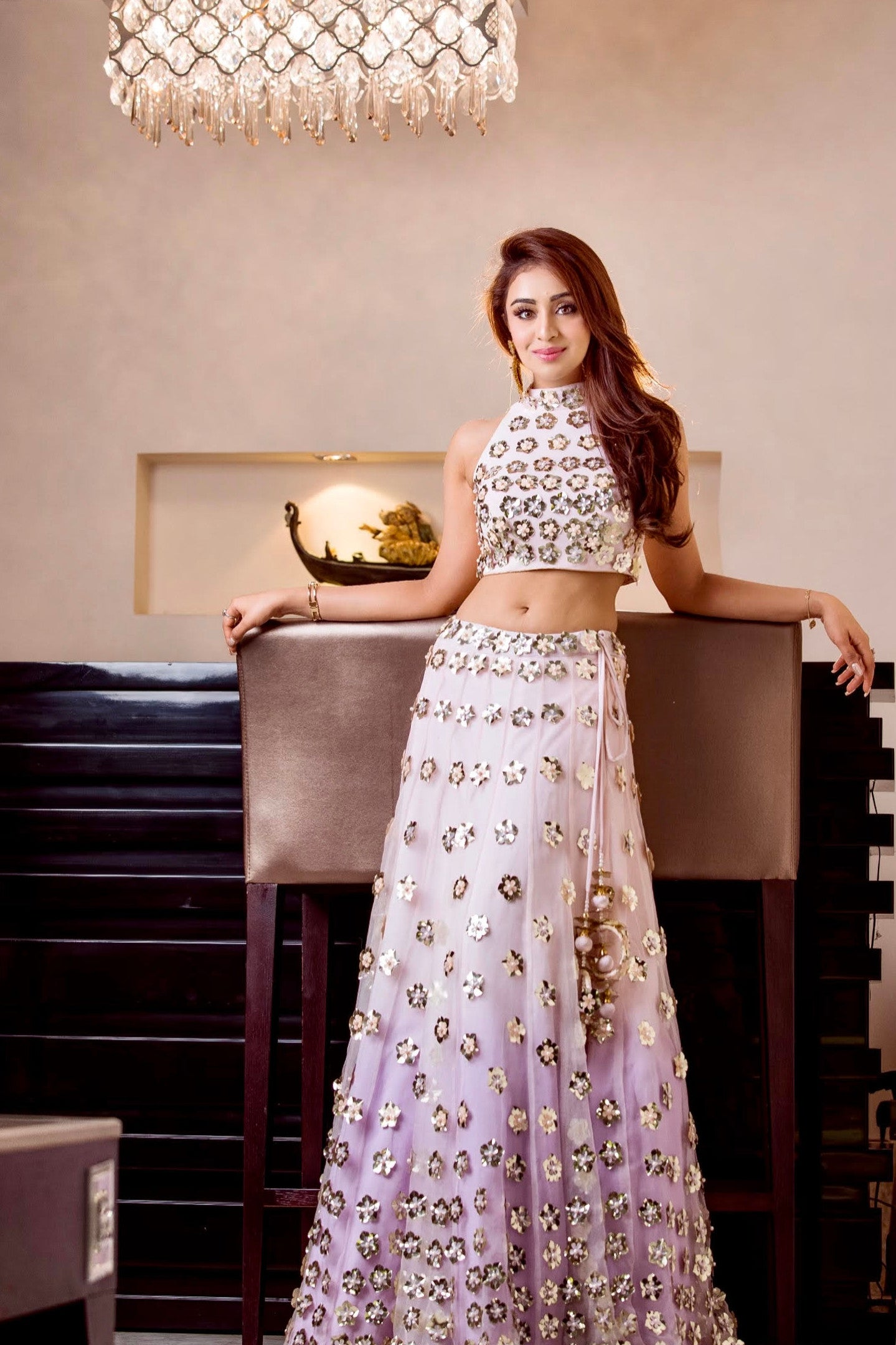 Manvi-Kapoor-Celebrity-Musskan-Sethi-wearing-Mermaid-Lehenga-Ethnic-Indian-Womenswear
