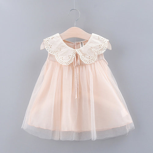 Cute Lace Collar Tulle Dress - Positive Bunch