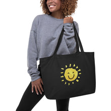 Load image into Gallery viewer, Sunshine Large organic tote bag - Positive Bunch