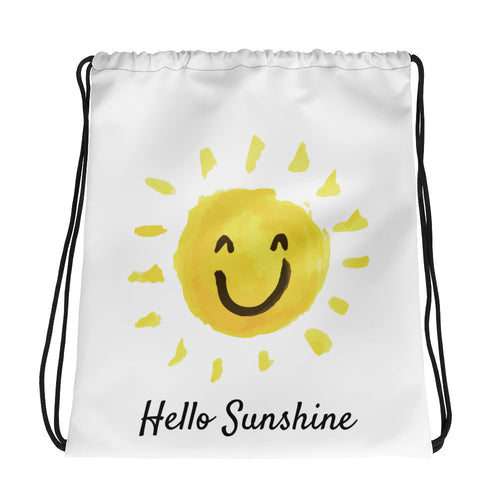 Hello Sunshine Drawstring bag - Positive Bunch