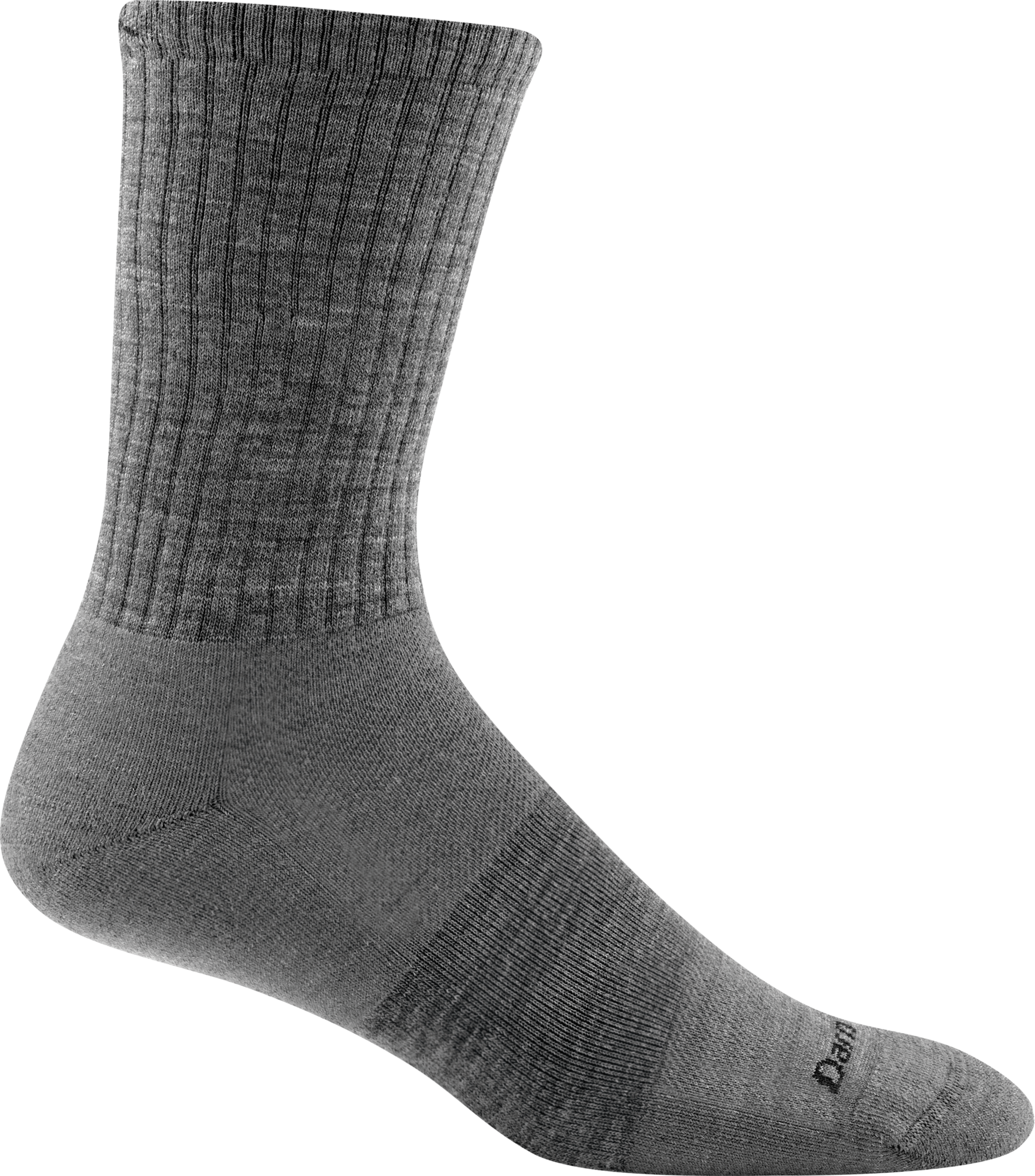 Crew Light Cushion Sock - Medium Gray