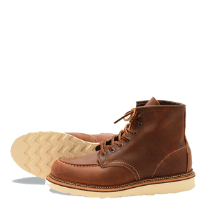 "6"" Moc Toe Boots - Copper Rough & Tough"