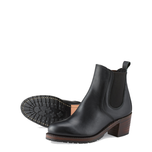 Harriet Heeled Boots - Black Boundary