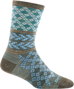 Greta Crew Light Socks - Aqua