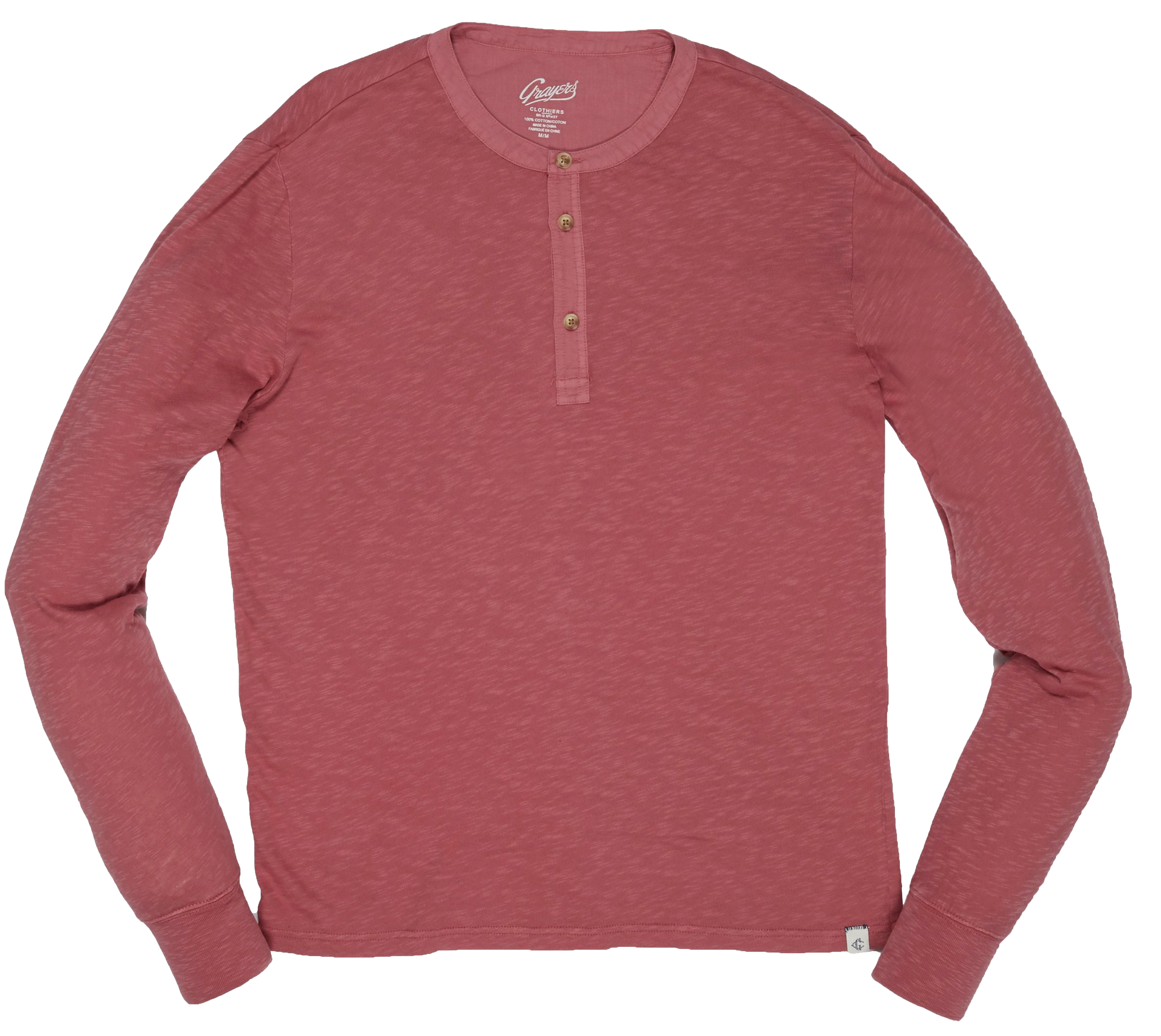 Madison Jaspe Loose Knit Henley - Dusty Cedar