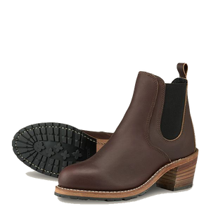 Harriet Heeled Boots - Mahogany
