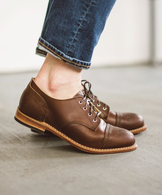 Hazel Oxford Shoes - Amber Harness