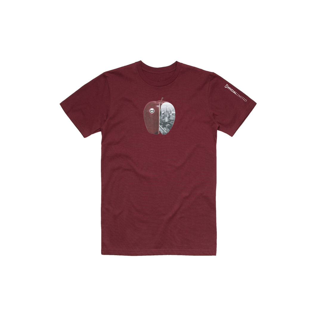 Apple Tee (Burgundy)