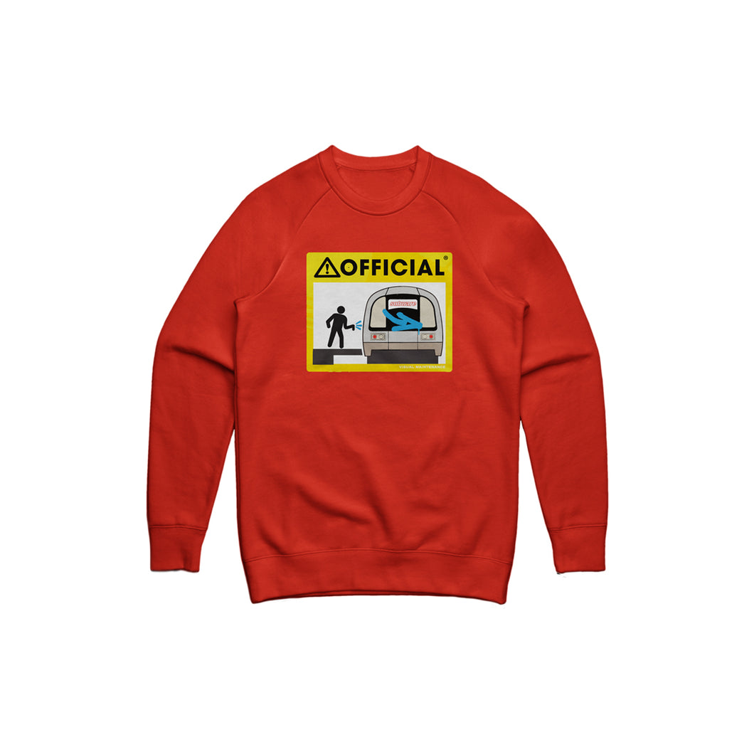 Official Subway Crewneck (Red)