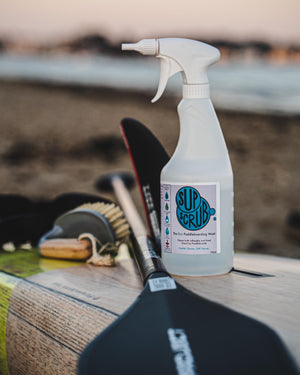 how to clean and care for your inflatable SUP SUPscrub Paddleboard Cleaning Eco and Sustainable. how to clean your inflatable sup. cleaning products for iSUP and Stand Up Paddleboards. SUP care. wash your SUP SUPscrub