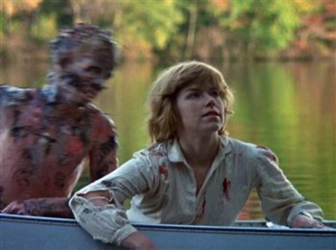 8 x 10 Jason Attacking Alice in canoe