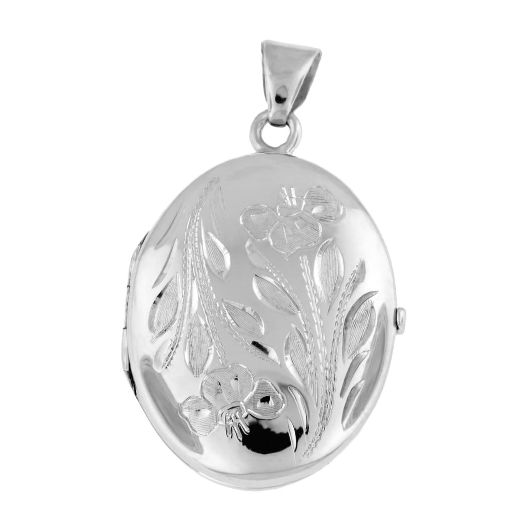 Cara Keepsakes Silver Locket Urns 'Wildflower' Locket Urn close up