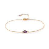 SINGLE STONE BEZEL SET AMETHYST BRACELET