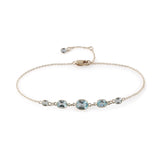 Five Stone Bezel Set Blue Topaz Bracelet