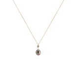 Saltwater Pearl Drop Necklace with White Topaz