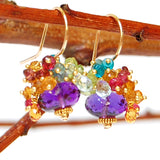 Amethyst Earrings with Gemstone Accents