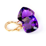 Amethyst Cushion Cut Solitaire Earrings