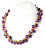 Amethyst Necklace with Gemstone Accents