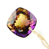 AMETRINE CUSHION CUT SOLITAIRE NECKLACE