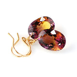 AMETRINE OVAL CUT SOLITAIRE EARRINGS