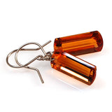 Citrine Baguette Cut Solitaire Earrings