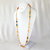 CITRINE NECKLACE WITH GEMSTONE ACCENTS