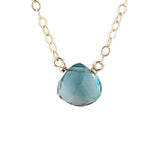 SINGLE-STONE BRIOLETTE NECKLACES - CLICK FOR ADDITIONAL GEMSTONES